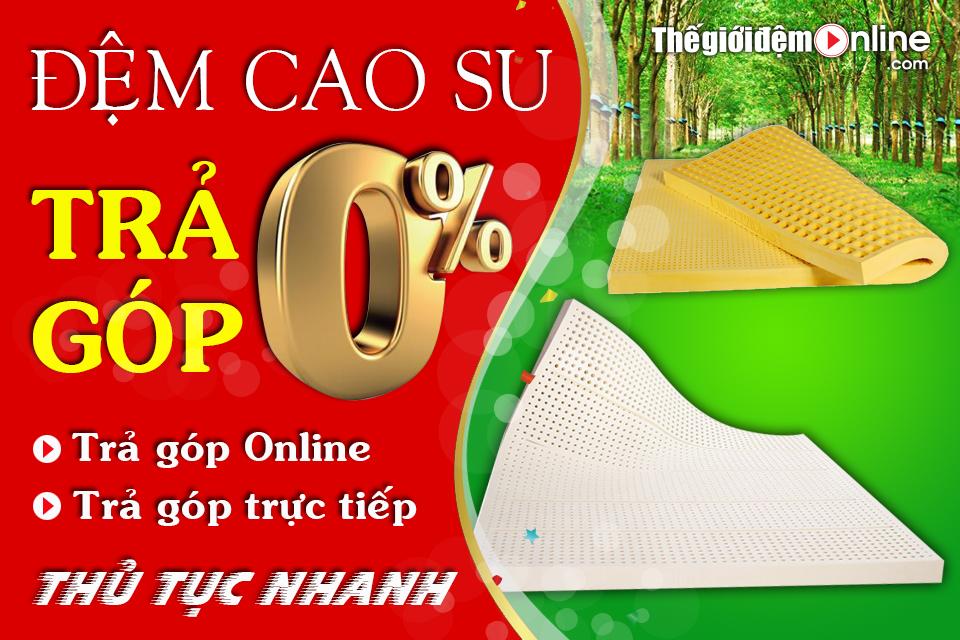 Bán Đệm cao su Trả góp tại Hà Nội