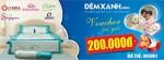 Đệm Xanh triển khai tặng Voucher 200.000đ cho tất cả quý khách hàng mua đệm.
