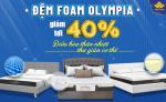 Đợt SALE lớn nhất vụ Thu Đông 2020 - Giảm giá tới 40% đệm Foam Olympia