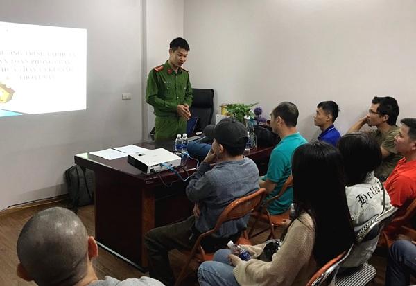 Hệ thống Đệm Xanh kết hợp với công an PCCC quận Thanh Xuân đào tạo PCCC trong toàn hệ thống