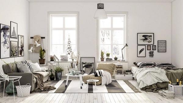 Bộ sưu tập chăn ga gối Everon cho thiết kế nội thất Bắc Âu Scandinavian
