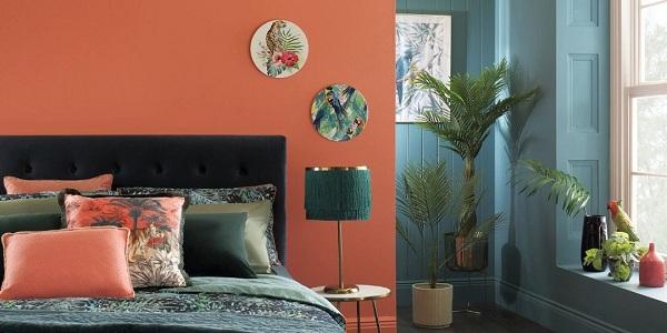 Bộ sưu tập chăn ga gối Sông Hồng cho thiết kế nội thất nhiệt đới
