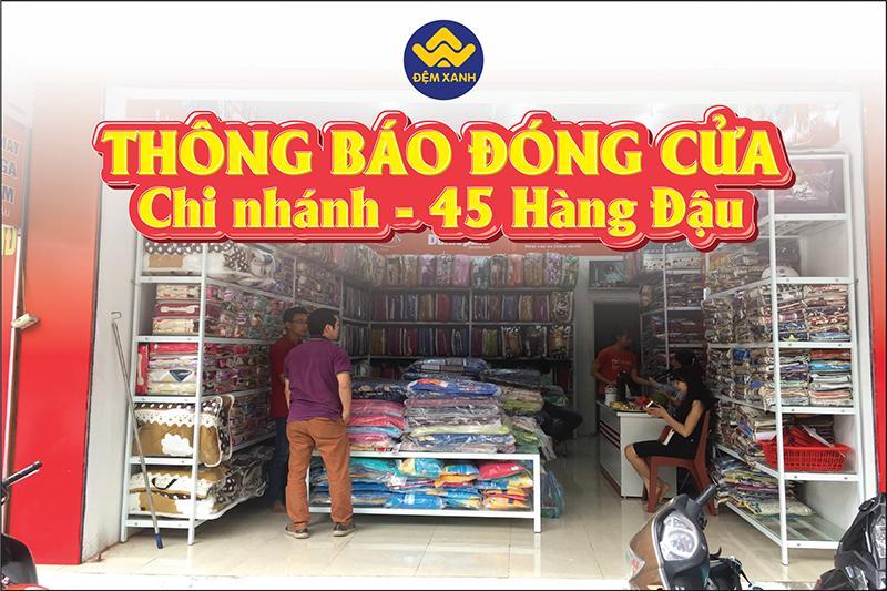 Đệm Xanh thông báo đóng cửa cơ sở 45 Hàng Đậu