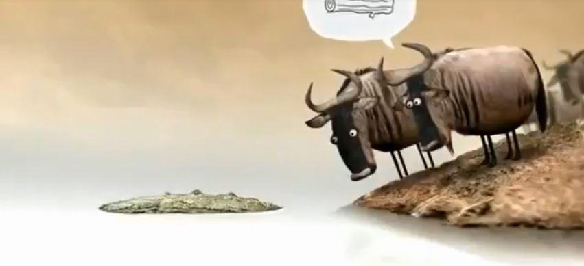 Video hài hước: Cá sấu hay khúc gỗ?