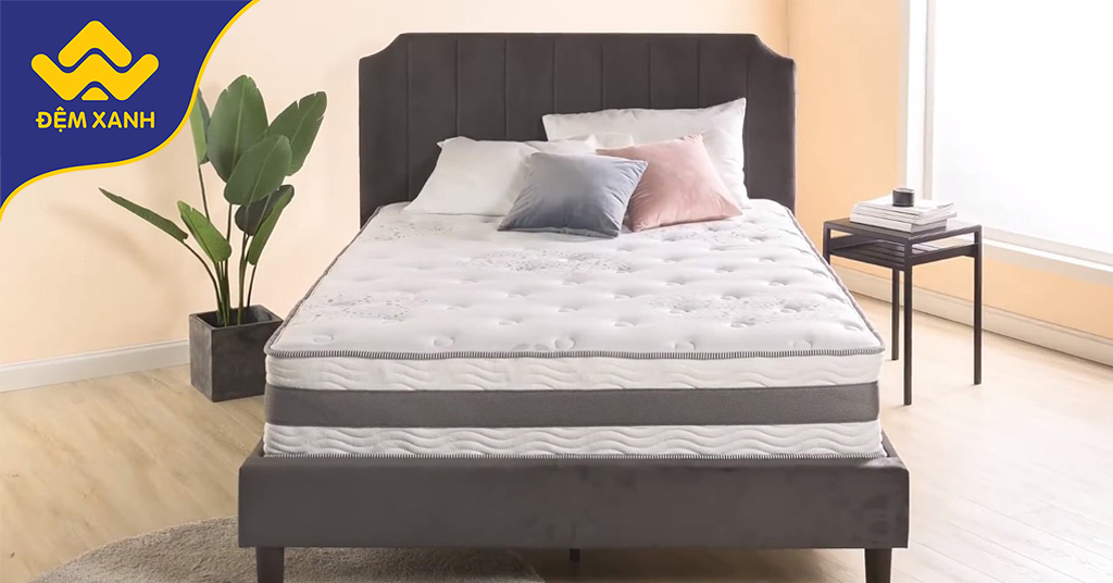 Review đệm lò xo Zinus Gel làm mát: Cấu trúc cân bằng cho giấc ngủ