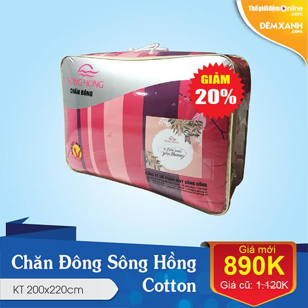 chăn đông sông hồng cotton 200x220