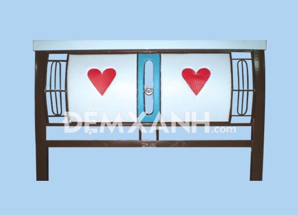 Giường sắt vuông giả đèn GD01