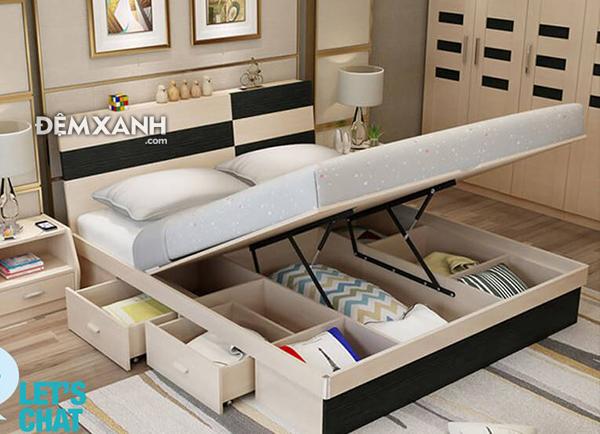 Giường gỗ MDF 12 cao cấp đa năng
