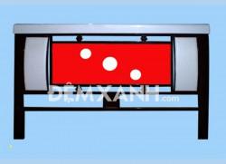 Giường sắt vuông giả đèn GD02