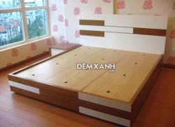 Giường gỗ MDF 03 Melamine cải sơn trắng