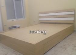 Giường gỗ MDF 05 Melamine cải sơn trắng
