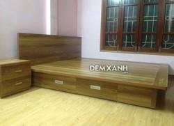Giường gỗ MDF 06 Melamine có ngăn kéo