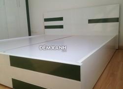 Giường gỗ MDF 08 sơn trắng