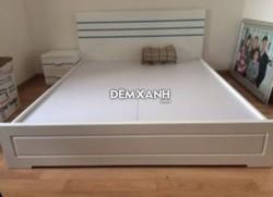 Giường gỗ MDF 09 sơn trắng