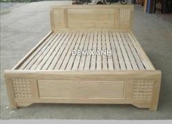 Giường gỗ sồi kiểu trám 01