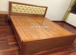 Giường gỗ xoan đào 08 bọc nệm đầu giường