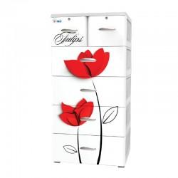 Tủ Nhựa Đại Đồng Tiến Nice T1220-5 hoa tuylip
