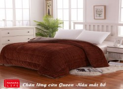 Chăn lông cừu Queen - Nâu mắt hổ