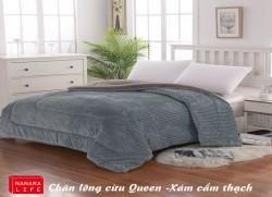 Chăn lông cừu Queen - Xám cẩm thạch