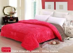 Chăn lông cừu Queen - Hồng Saphia