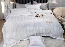 Chăn ga gối khách sạn cotton K & Q kẻ sọc 3cm KQ05