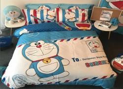 Chăn ga gối Olympia hoạt hình OHH2009 Doraemon