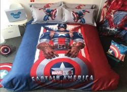 Chăn ga gối Olympia hoạt hình OHH2024 Captain America