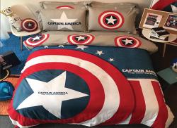 Chăn ga gối Olympia hoạt hình OHH2025 Captain America