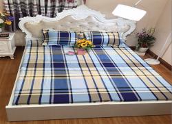 Bộ ga gối chun Olympia chần vải Cotton Hàn 34