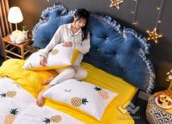Kê đầu giường Khuy màu xanh than