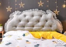Kê đầu giường Khuy màu ghi