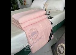 Chăn hè lụa Canada màu hồng