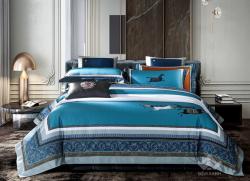 Bộ chăn ga gối lụa tơ tằm cao cấp King luxury 12