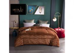Chăn lông cừu Pháp Nicolas Princess màu nâu