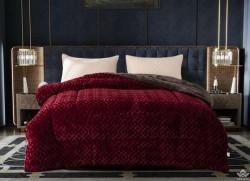 Chăn lông cừu Pháp Nicolas màu đỏ Cherry NCL2013