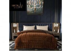 Chăn lông cừu Pháp Nicolas màu nâu tây NCL2014
