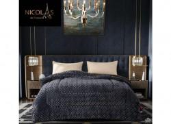 Chăn lông cừu Pháp Nicolas xám latin NCL2018