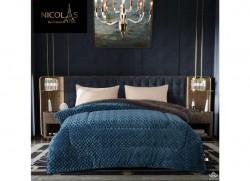 Chăn lông cừu Pháp Nicolas xanh dương NCL2020