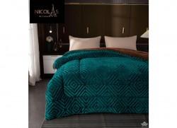 Chăn lông cừu Pháp Nicolas xanh Navy NCL2021
