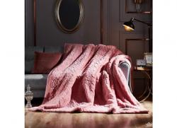 Chăn lông cáo Nicolas màu hồng LCA2103