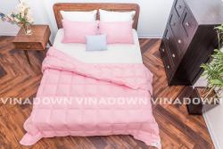 Ruột chăn lông vũ Vinadown mỏng màu hồng