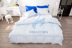 Ruột chăn lông vũ Vinadown dày màu xanh ngọc