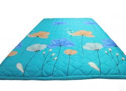 Chăn hè Poly xanh hoa bướm