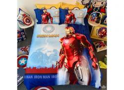 Chăn ga gối Olympia hoạt hình OHH2117 Iron Man