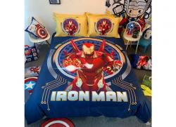 Chăn ga gối Olympia hoạt hình OHH2118 Iron Man