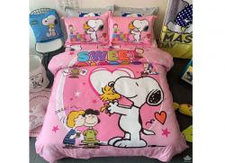Chăn ga gối Olympia hoạt hình OHH2128 Cún Snoopy