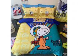 Chăn ga gối Olympia hoạt hình OHH2133 Snoopy Rock