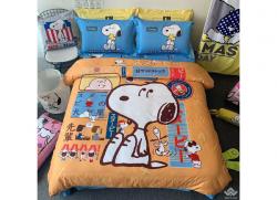 Chăn ga gối Olympia hoạt hình OHH2137 Snoopy Nhật
