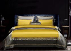 Bộ chăn ga gối lụa Singapore luxury 6 món  LSL2120