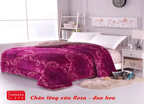 Chăn lông cừu Rosa - Đun hoa